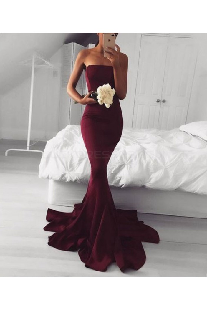 Mermaid Strapless Long Prom Dresses Party Evening Gowns 3020743