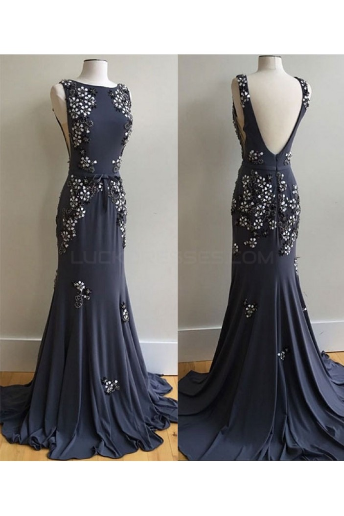 Mermaid Beaded Long Prom Dresses Party Evening Gowns 3020754