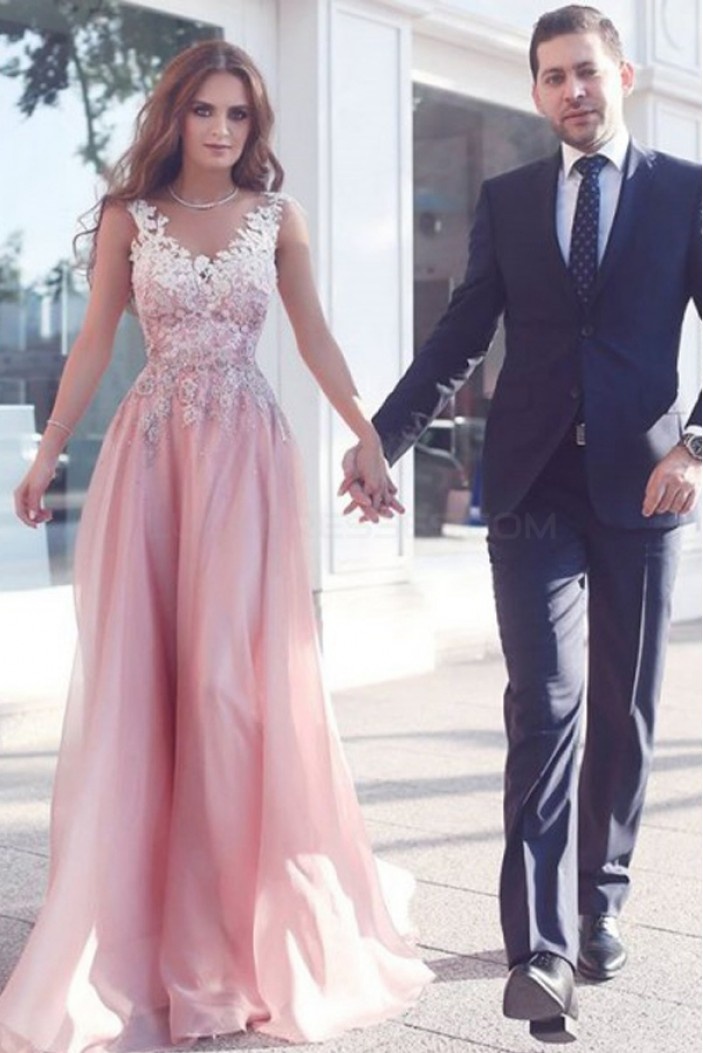 Long Lace Prom Formal Evening Party Dresses 3020771