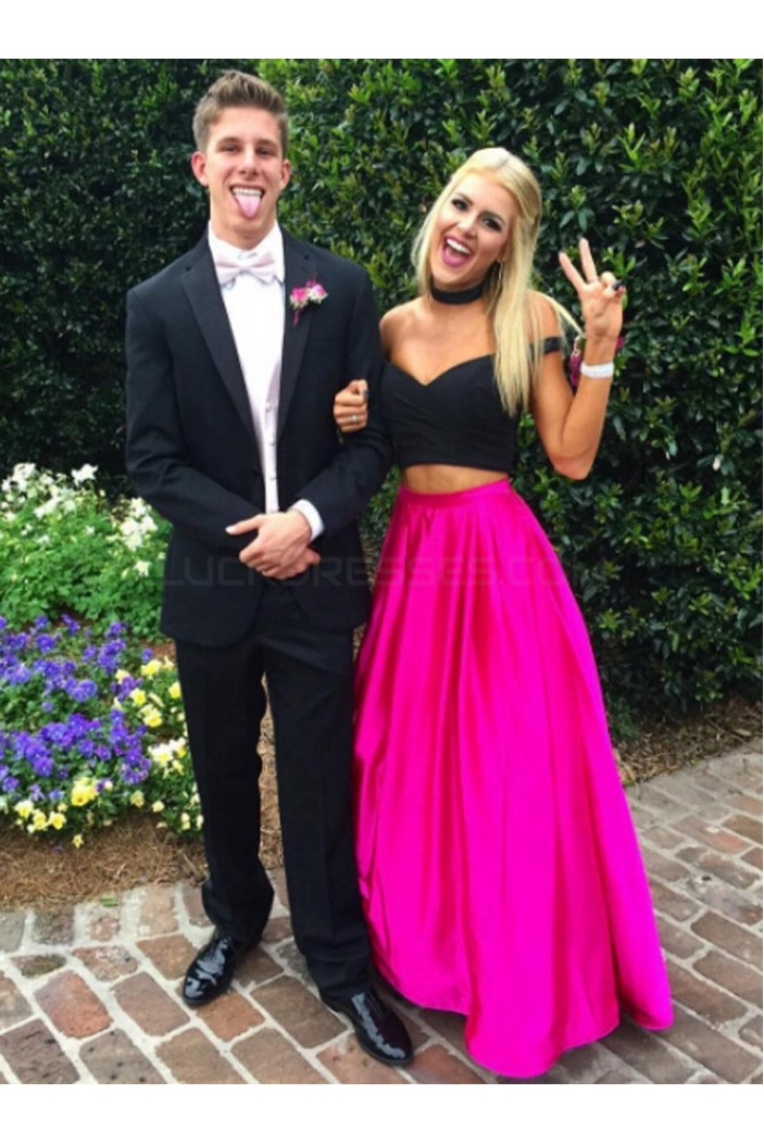 Two Pieces Off-the-Shoulder Prom Formal Evening Party Dresses 3020778