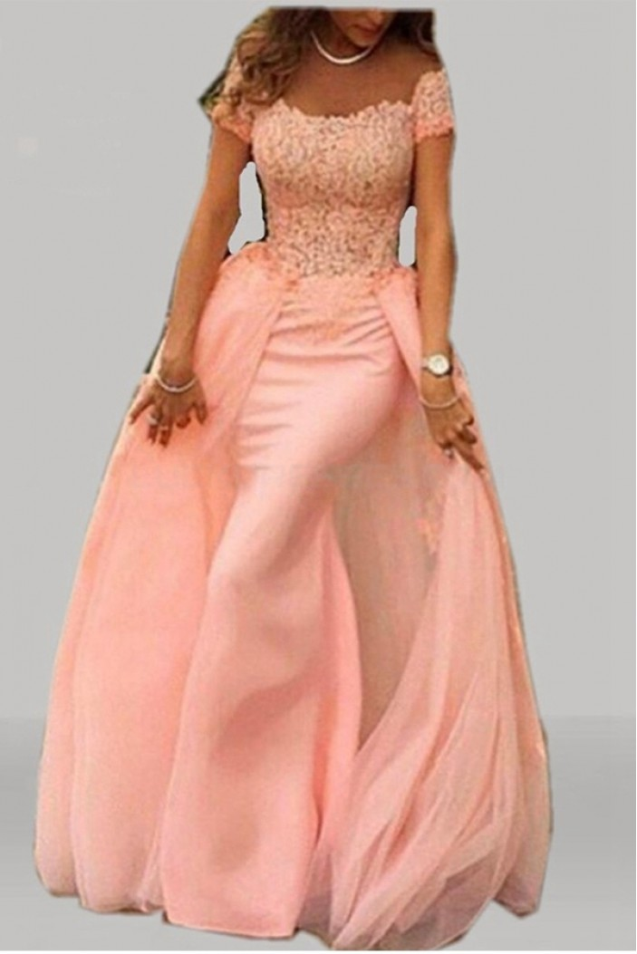 Mermaid Long Lace Prom Formal Evening Party Dresses 3020781