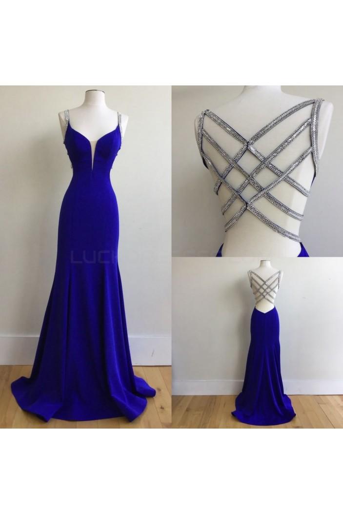 Elegant Long Blue Prom Formal Evening Party Dresses 3020783
