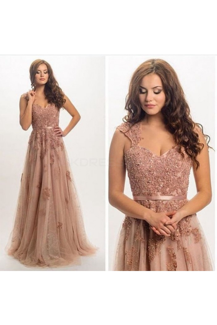 Elegant Lace Long Prom Formal Evening Party Dresses 3020785