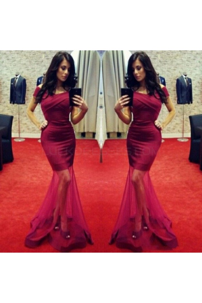 Sexy Mermaid Off-the-Shoulder Long Prom Formal Evening Party Dresses 3020786