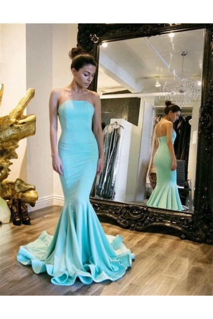 Mermaid Long Strapless Prom Formal Evening Party Dresses 3020788