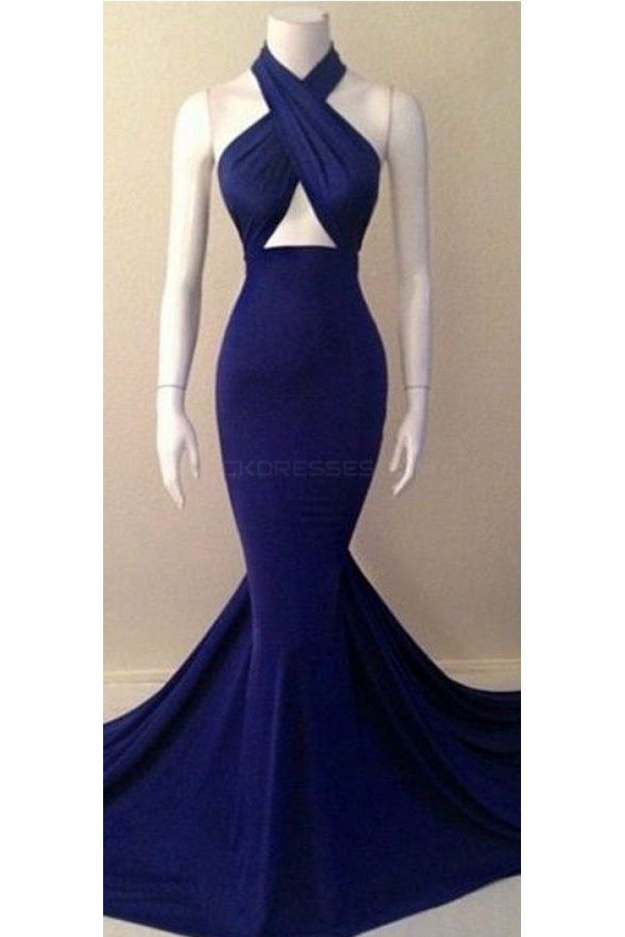 Mermaid Long Blue Sexy Prom Formal Evening Party Dresses 3020798
