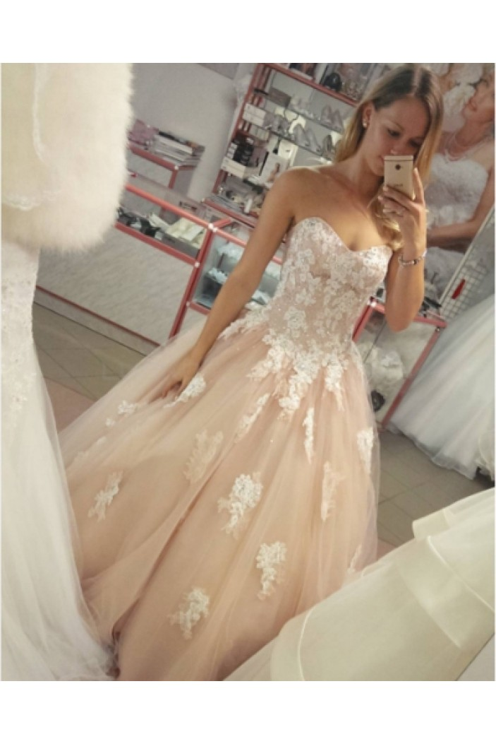 Ball Gown Sweetheart Lace Long Prom Formal Evening Party Dresses 3020825