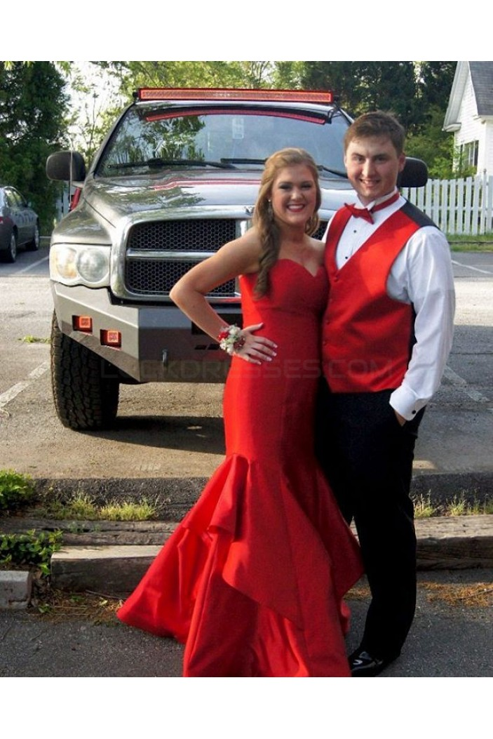 Mermaid Long Red Sweetheart Prom Formal Evening Party Dresses 3020840