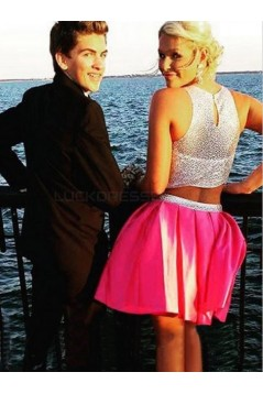 Beaded Two Pieces Short Prom Formal Evening Party Dresses 3020842