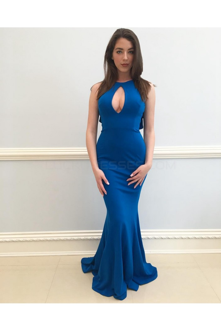 Mermaid Long Blue Prom Formal Evening Party Dresses 3020846