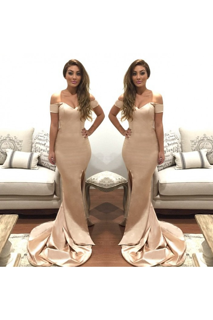 Mermaid Off-the-Shoulder Long Prom Formal Evening Party Dresses 3020861