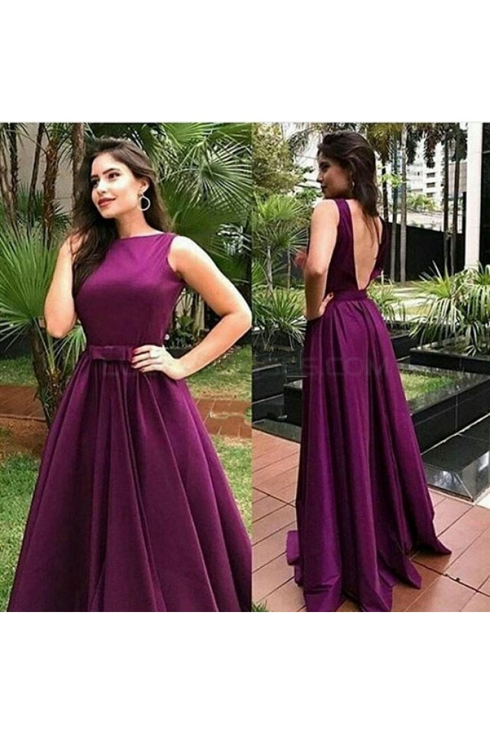 A-Line Long Purple Prom Formal Evening Party Dresses 3020901