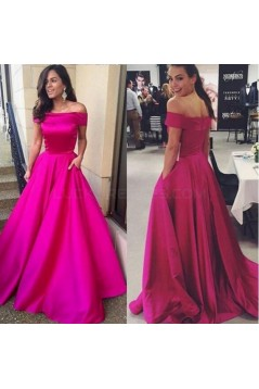A-Line Off-the-Shoulder Long Prom Formal Evening Party Dresses 3020915