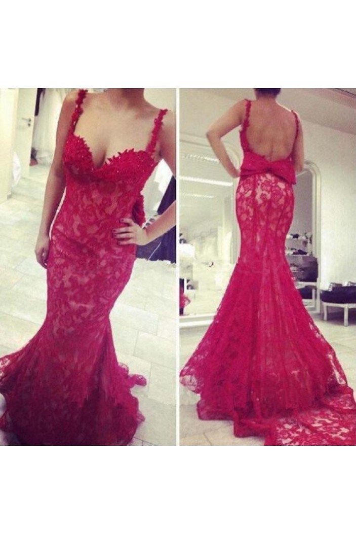 Mermaid Lace Long Prom Formal Evening Party Dresses 3020926