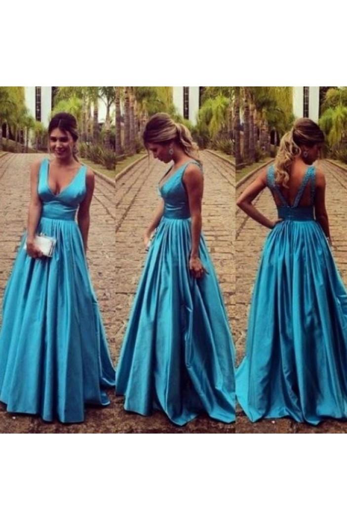A-Line V-Neck Long Prom Formal Evening Party Dresses 3020933