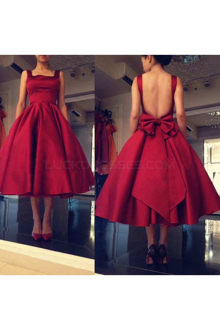 Red Satin Prom Formal Evening Party Dresses 3020978