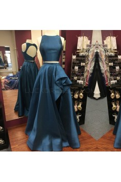 Satin Royal Blue Prom Formal Evening Party Dresses 3020980