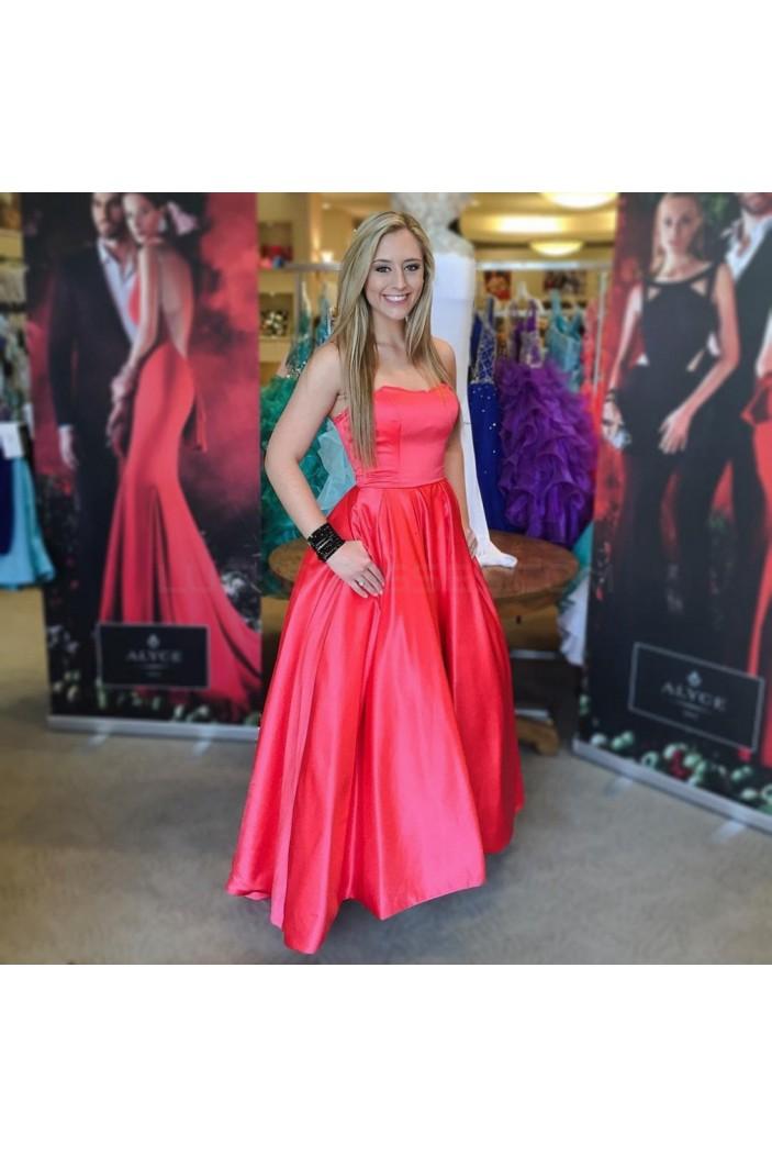 Strapless Long Prom Formal Evening Party Dresses 3020994