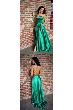 Sexy Long Royal Blue Backless Prom Dresses Evening Gowns 601008