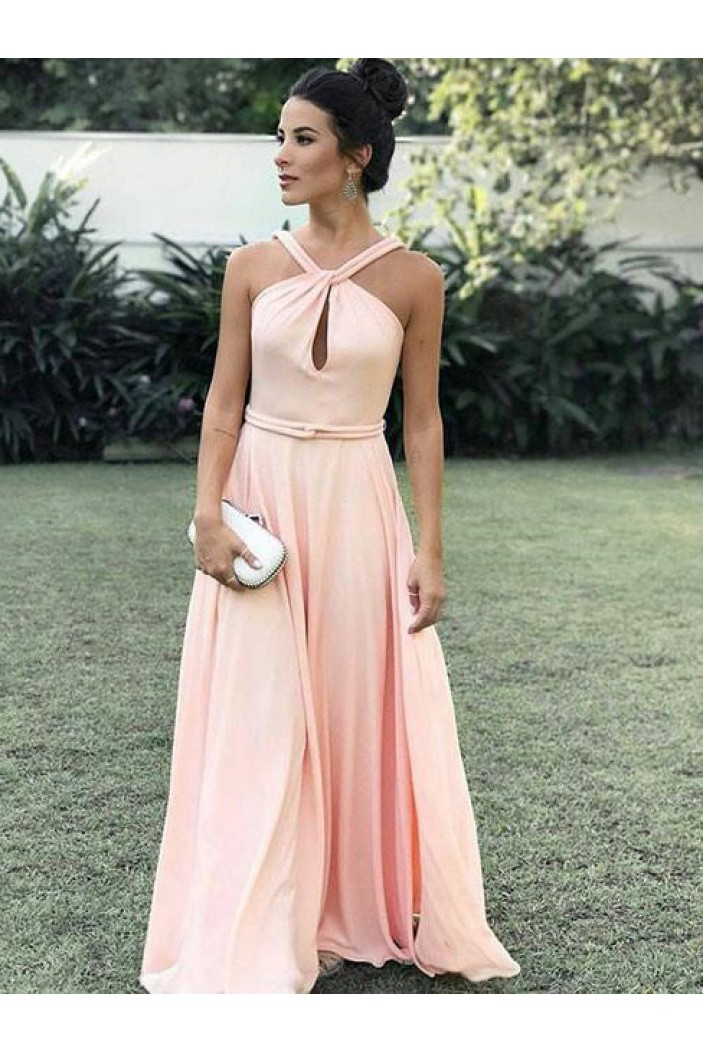A-Line Long Prom Dresses Formal Evening Dresses 601038
