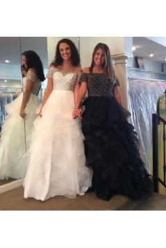 Beaded Off-the-Shoulder Long Prom Dresses Formal Evening Dresses 601045