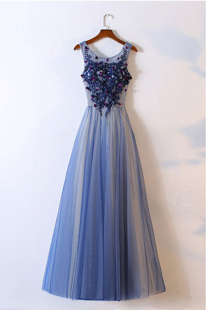 Long Tulle Lace Prom Dresses Formal Evening Dresses 601051
