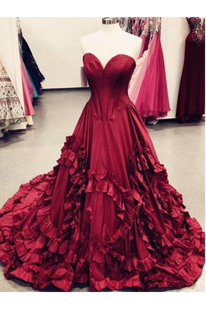 A-Line Sweetheart Long Prom Dresses Formal Evening Dresses 601085