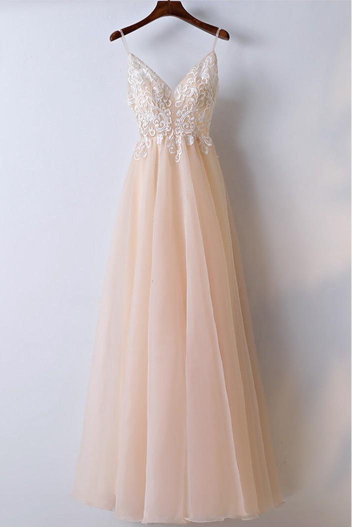 Long A-Line Prom Dresses Formal Evening Dresses 601095
