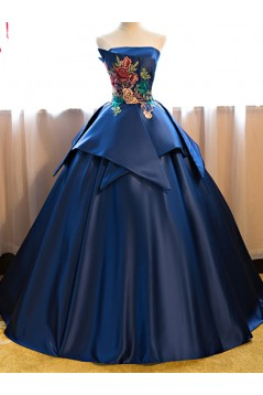 Ball Gown Strapless Long Prom Dresses Formal Evening Dresses 601100