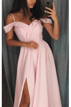 Simple Stunning Long Pink Prom Dresses Formal Evening Dresses 601119