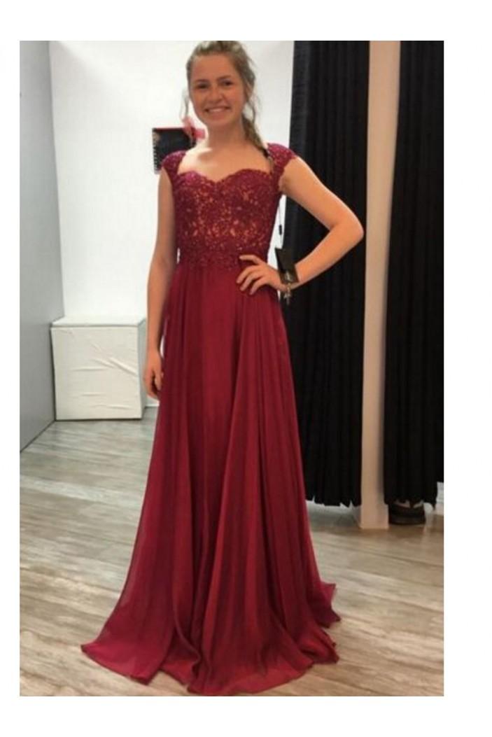 A-Line Chiffon Long Prom Dresses Formal Evening Dresses 601125