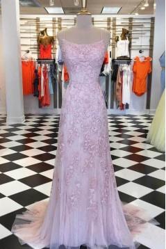 Mermaid Lace Long Prom Dresses Formal Evening Dresses 601128