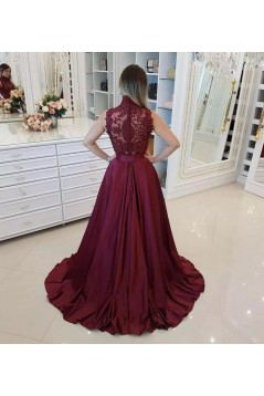 Beaded Lace Long Prom Dresses Formal Evening Dresses 601146