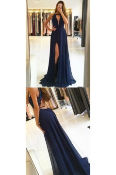 Long Chiffon Lace Prom Dresses Formal Evening Dresses 601161
