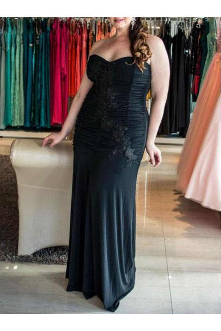 Long Strapless Plus Size Prom Dresses Formal Evening Dresses 601162