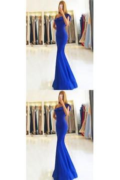 Elegant One-Shoulder Mermaid Long Plus Size Prom Dresses Formal Evening Dresses 601164