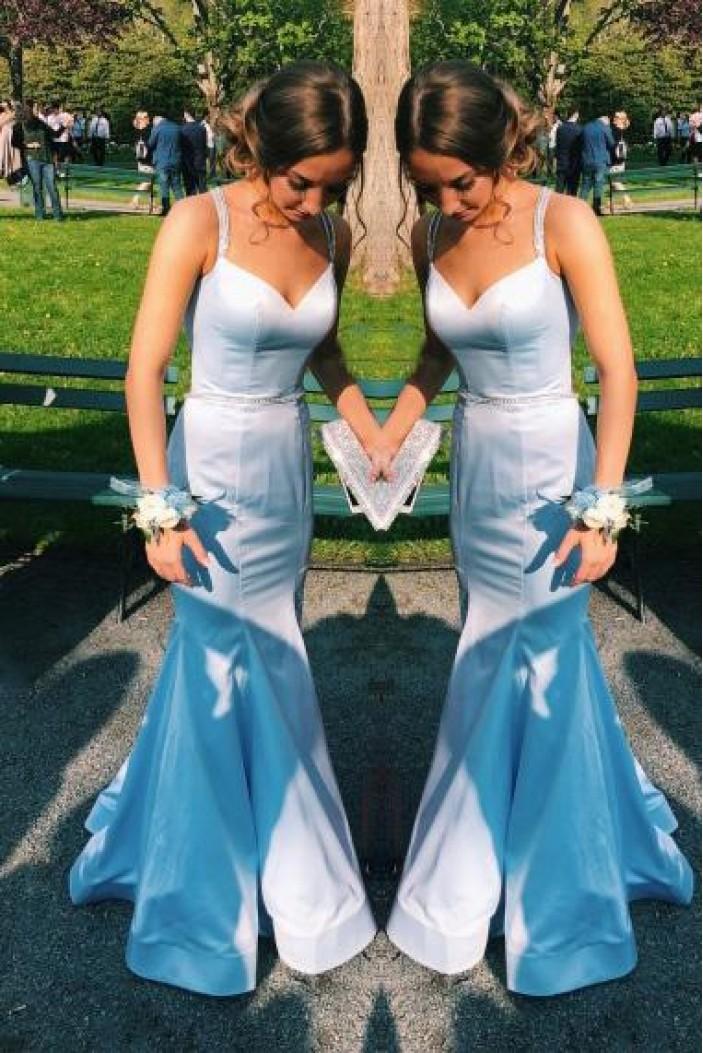Elegant Mermaid Long Prom Dresses Formal Evening Dresses 601177
