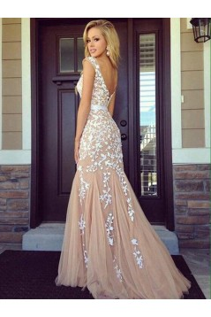 Mermaid Lace Long Prom Dresses Formal Evening Dresses 601201