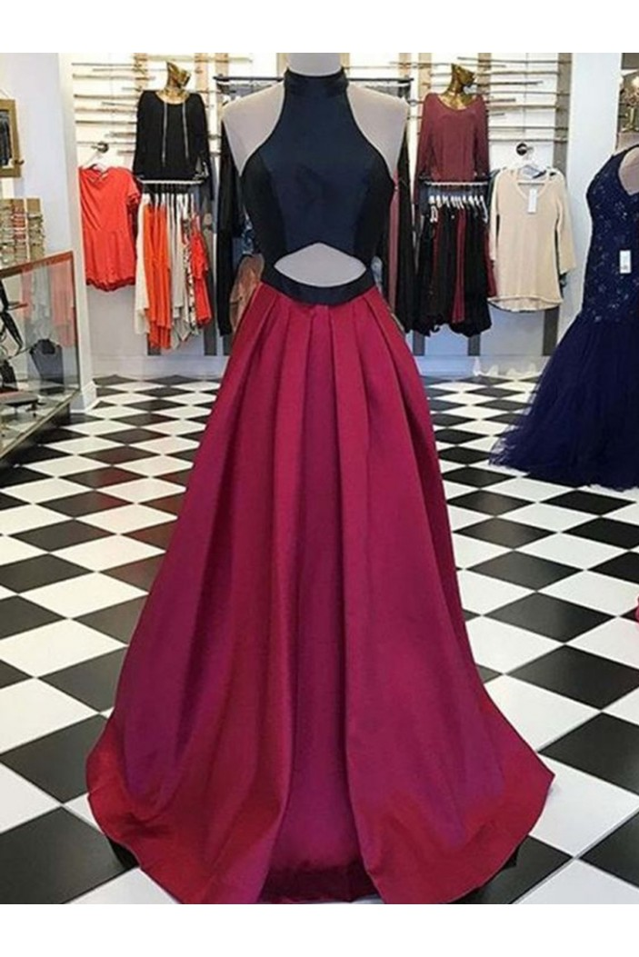Halter Long Prom Dresses Formal Evening Dresses 601206