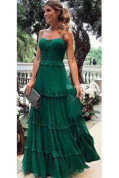 A-Line Chiffon Long Prom Dresses Formal Evening Dresses 601238