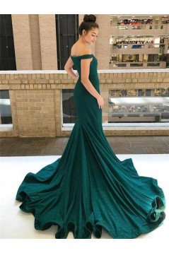 Mermaid Off-the-Shoulder Long Prom Dresses Formal Evening Dresses 601248