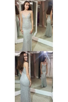 Sexy Beaded Sequins Long Prom Dresses Formal Evening Dresses 601251