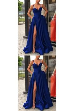 A-Line Spaghetti Straps Long Prom Dresses Formal Evening Dresses 601308
