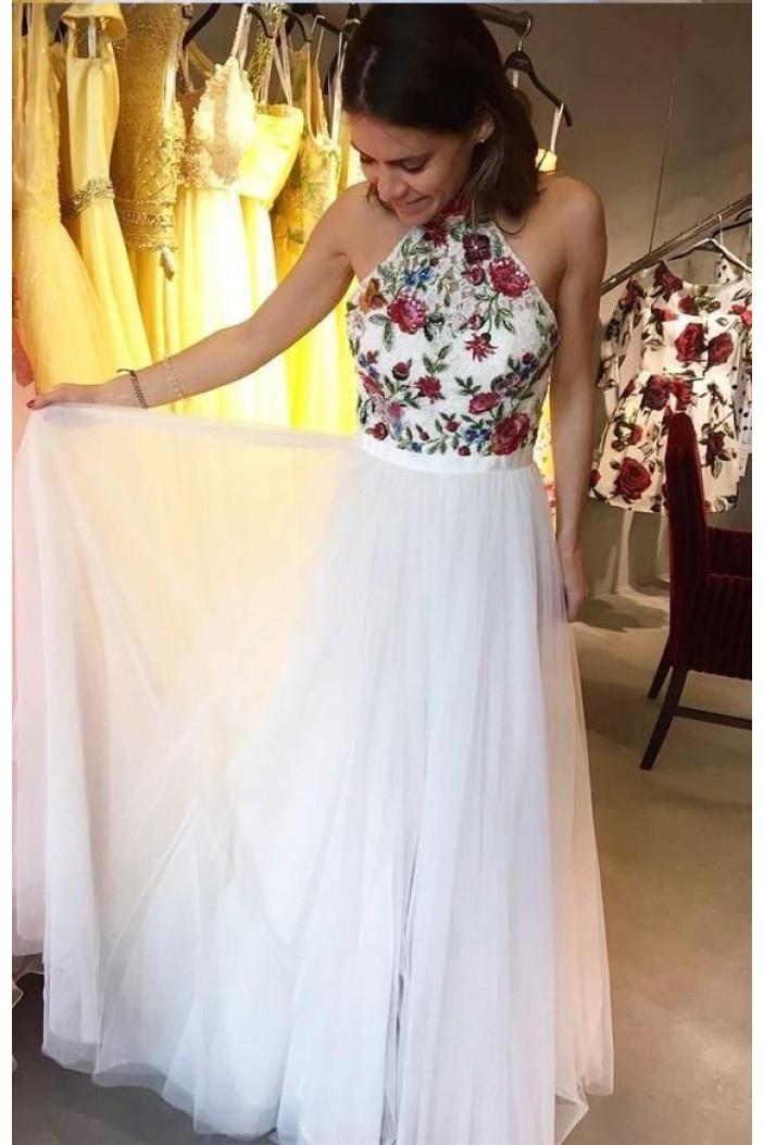A-Line Long Prom Dresses Formal Evening Dresses 601335