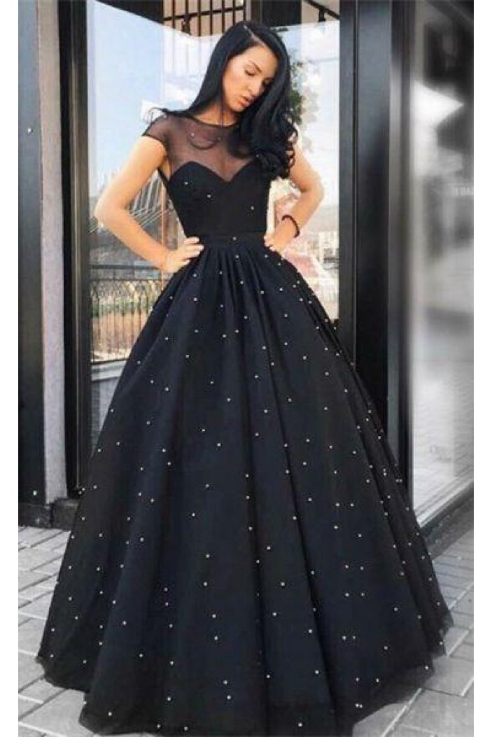 Beaded Ball Gown Long Prom Dresses Formal Evening Dresses 601336