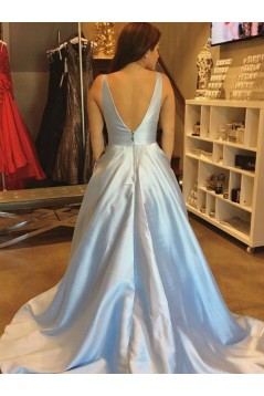 Ball Gown V-Neck Long Prom Dresses Formal Evening Dresses 601339