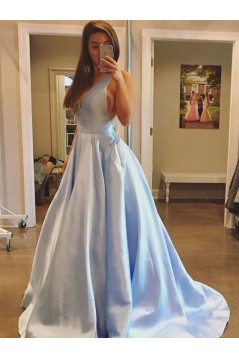 Ball Gown V-Neck Long Prom Dresses Formal Evening Dresses 601339