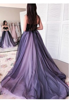 Lace and Tulle Sweetheart Long Prom Dresses Formal Evening Dresses 601340
