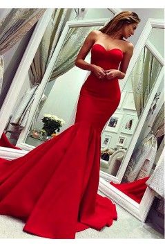 Mermaid Sweetheart Long Prom Dresses Formal Evening Dresses 601344