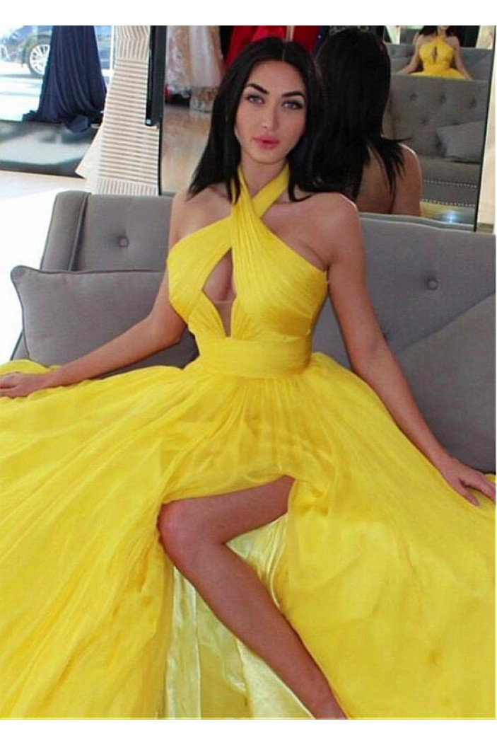 Sexy A-Line Long Prom Dresses Formal Evening Dresses 601350
